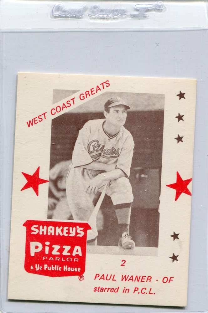 1975 Shakey's Pizza #2 Paul Waner