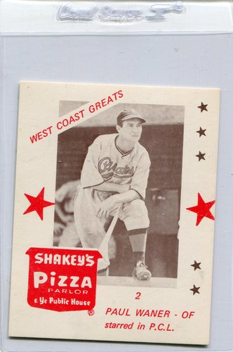 Photo of 1975 Shakey's Pizza #2 Paul Waner