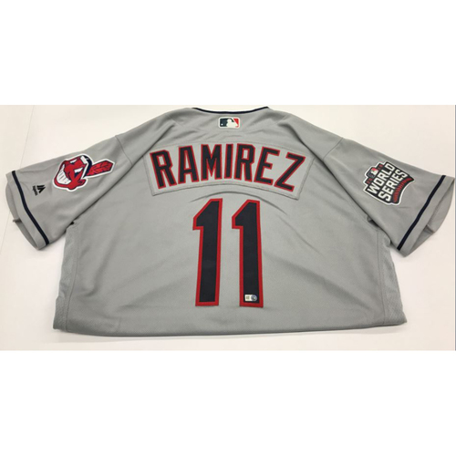 Jose Ramirez Team-Issued 2016 World Series Road Jersey