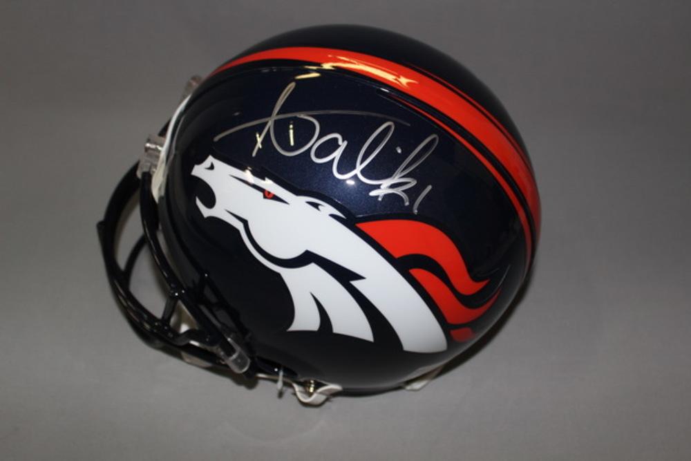 NFL - Broncos Aqib Talib signed Bronocs proline helmet