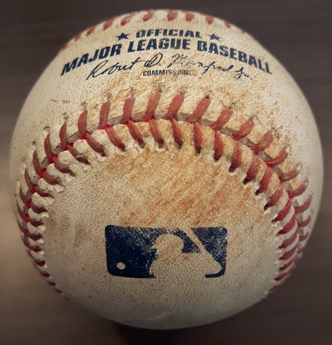 Photo of Authenticated Game Used Baseball - July 29, 2017: 2 RBI single by Andrelton Simmons against Francisco Liriano (Top 6)
