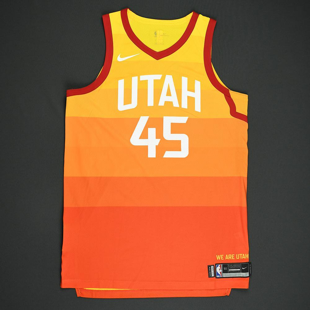 5176877c429 Donovan Mitchell - Utah Jazz - 2018 Verizon Slam Dunk - Event-Worn Jersey (