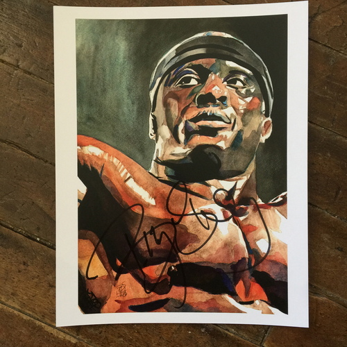 Photo of Bobby Lashley SIGNED 11 x 14 Rob Schamberger Print