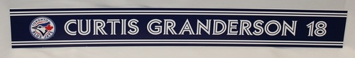 Photo of Authenticated Game Used 2018 Locker Name Plate - #18 Curtis Granderson