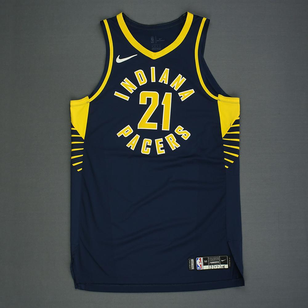 Thaddeus Young - Indiana Pacers - Kia NBA Tip-Off 2018 - Game-Worn Icon Edition Jersey - 1 of 2