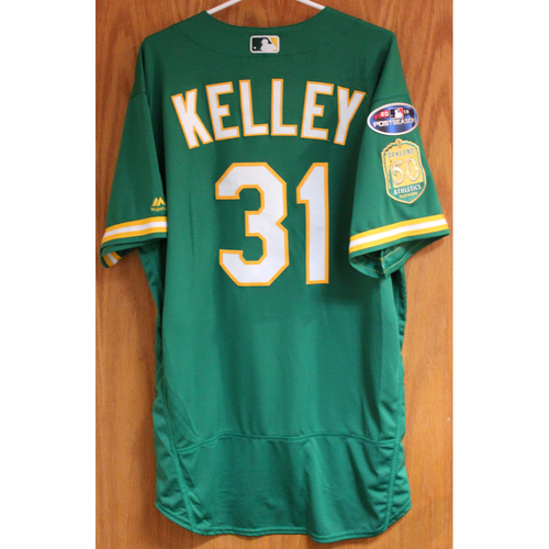 Photo of Team Issued Shawn Kelley 2018 Jersey w/ Postseason Patch