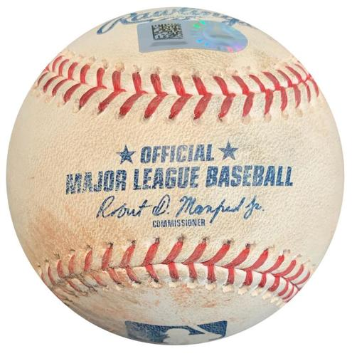 Photo of Game-Used Baseball from Pirates vs. Cardinals on 8/3/18 - Three Archer Pitches to Gyorko