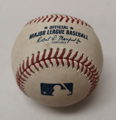 Photo of Authenticated Game Used Baseball - Greg Bird Single against Aaron Loup (July 7, 2018 vs NYY). Top 8.