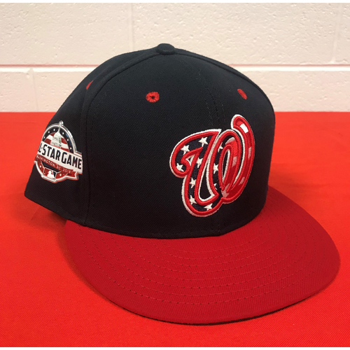 Photo of Stephen Strasburg Game-Used Washington Nationals 2018 Navy Patriotic Cap