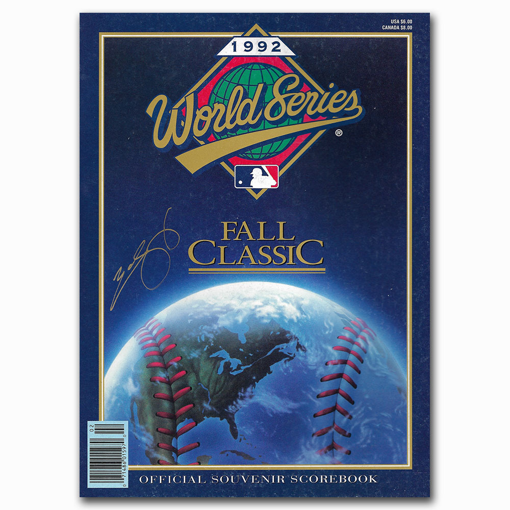 Ed Sprague Autographed 1992 World Series Program