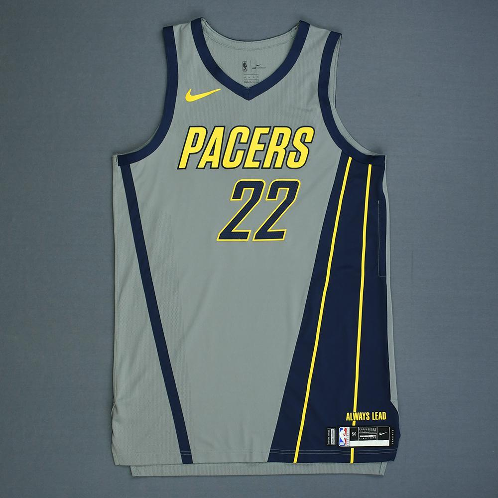TJ Leaf - Indiana Pacers - Game-Worn City Edition Jersey - Dressed, Did Not Play - 2018-19 Season