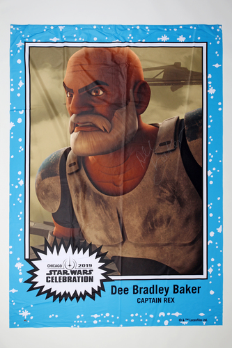 Dee Bradley Baker 5' X 7' Autographed 1-of-1 Banner from 2019 Star Wars Celebration