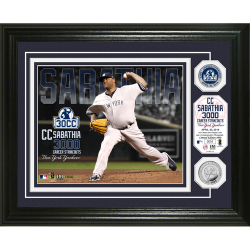 Photo of CC Sabathia 3000K Silver Coin Photo Mint
