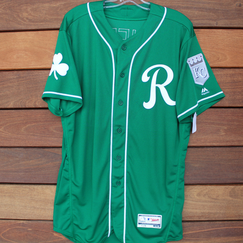 Team-Issued St. Patrick's Day Jersey: Danny Duffy (Size 46)