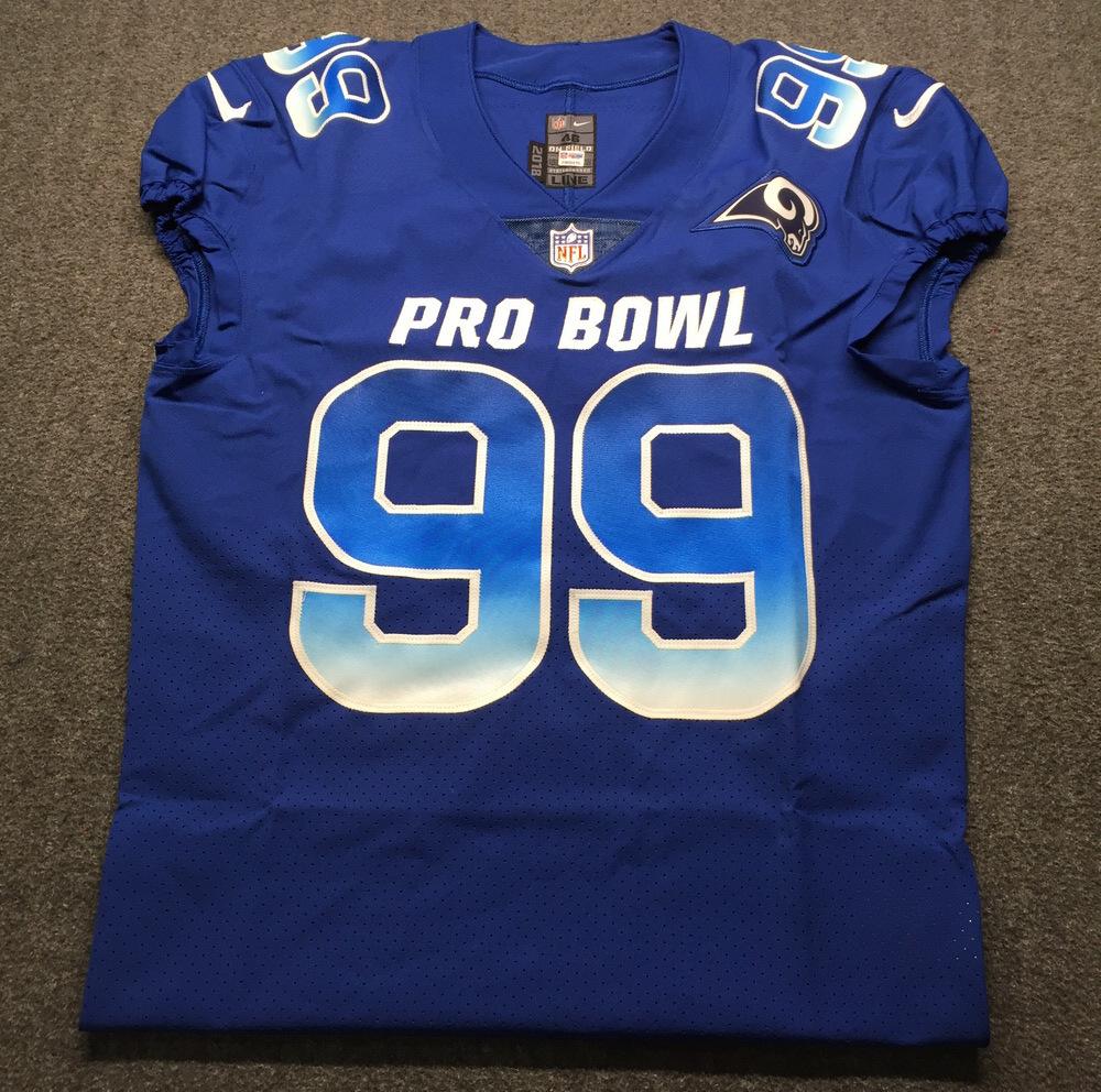 best sneakers 1a046 de6d1 NFL Auction | NFL - Rams Aaron Donald Game Issued 2019 Pro ...