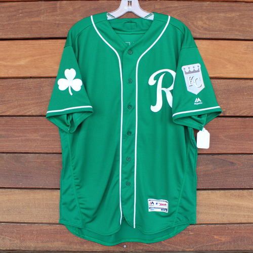 Game-Used Saint Patrick's Day Jersey: Pedro Grifol (KC @ SF - 3/17/19) (Size 48)