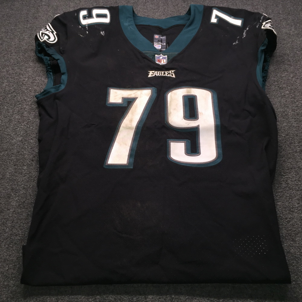 STS - Eagles Brandon Brooks Game Used Jersey (11/25/18) Size 48