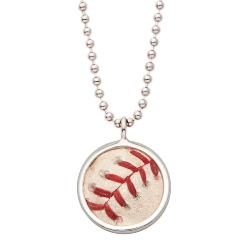 Photo of Tokens & Icons Chicago Cubs Game Used Baseball Pendant