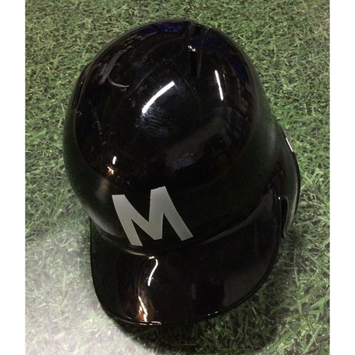 Photo of Tyler Saladino 2018 Game-Used Milwaukee Bears Batting Helmet