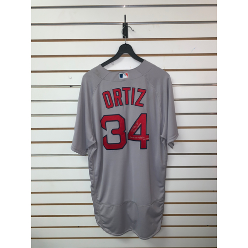 David Ortiz Game-Used, Autographed April 24, 2016 Road Jersey