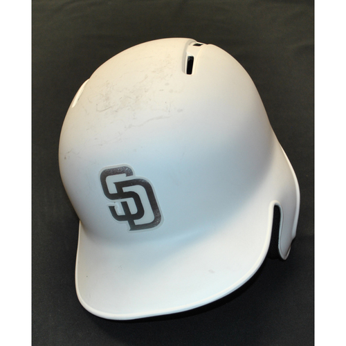 "Photo of Francisco ""FRANKY"" Mejia San Diego Padres Game-Used 2019 Players' Weekend Helmet"