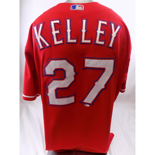 Red Game-Used Jersey - Shawn Kelley - 3/30/19