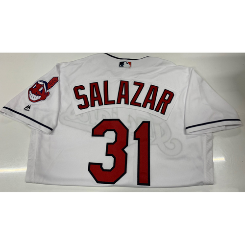 Photo of Danny Salazar Team-Issued Home Jersey