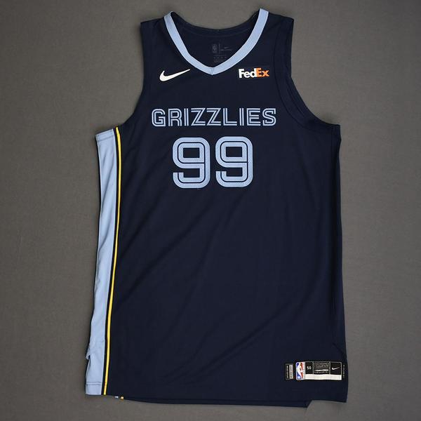 Image of Jae Crowder - Memphis Grizzlies - Kia NBA Tip-Off 2019 - Game-Worn Icon Edition Jersey - Grizzlies' Debut