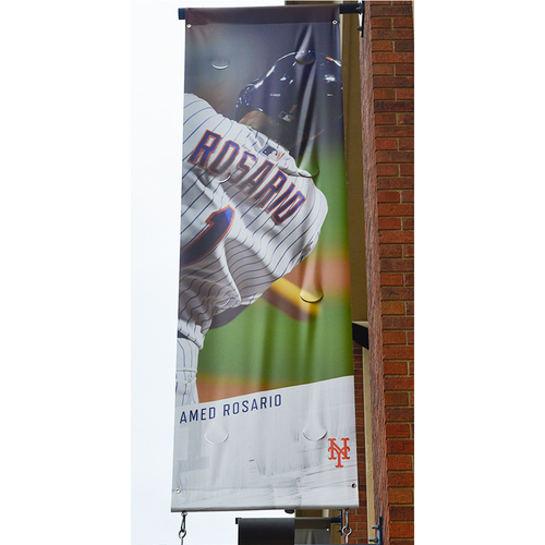 Photo of Amed Rosario #1 - Citi Field Banner - 2019 Season