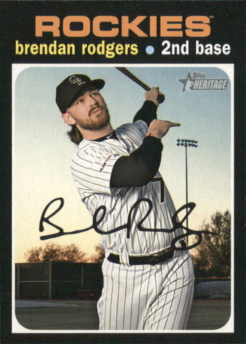 Photo of 2020 Topps Heritage #44 Brendan Rodgers