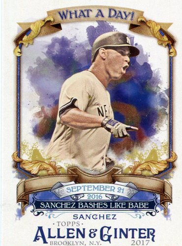 Photo of 2017 Topps Allen and Ginter What a Day #WAD40 Gary Sanchez
