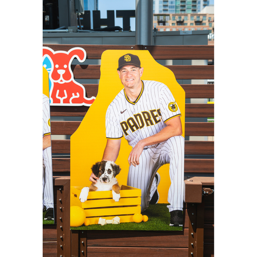 Photo of Garrett Richards Autographed Pet Cutout (Not MLB Authenticated, COA Included) and PupBox