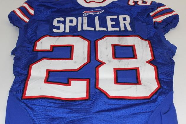 NFL Auction   C.J. SPILLER GAME WORN BILLS JERSEY (OCTOBER 12, 2014)