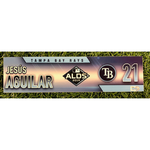 Photo of Rays Baseball Foundation: Team Issued Locker Tag: Jesus Aguilar - ALDS - Authenticated on October 4, 5 and 10, 2019 at HOU