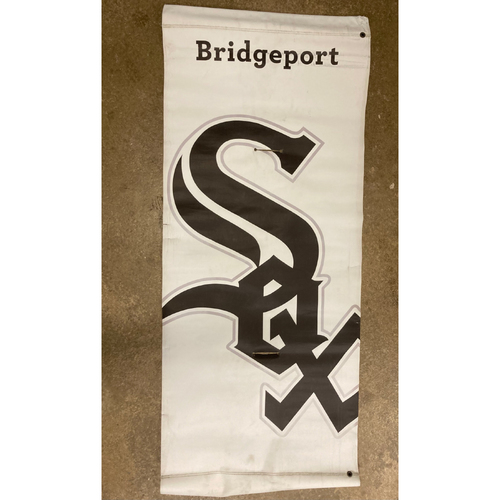 Photo of White Sox Current Old English White Home Logo Banner - NOT MLB Authenticated