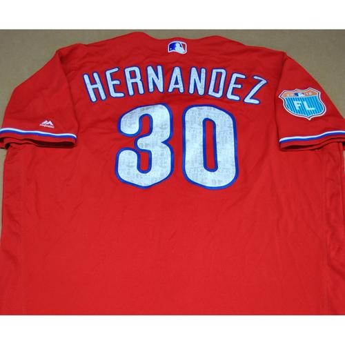 Photo of Game-Used 2016 Spring Training Jersey - David Hernandez #30 - Size 54 - Philadelphia Phillies