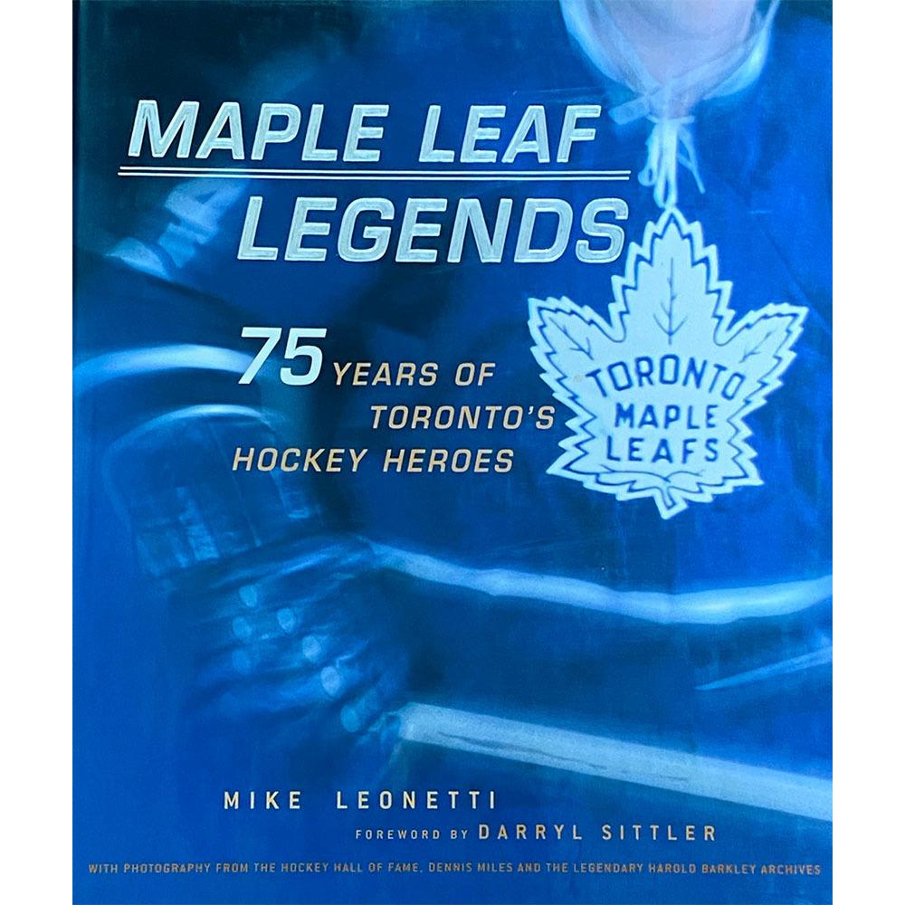 Maple Leaf Legends Multi-Signed Hardcover Book - Baun, Bower, Kelly, Keon & Kaberle
