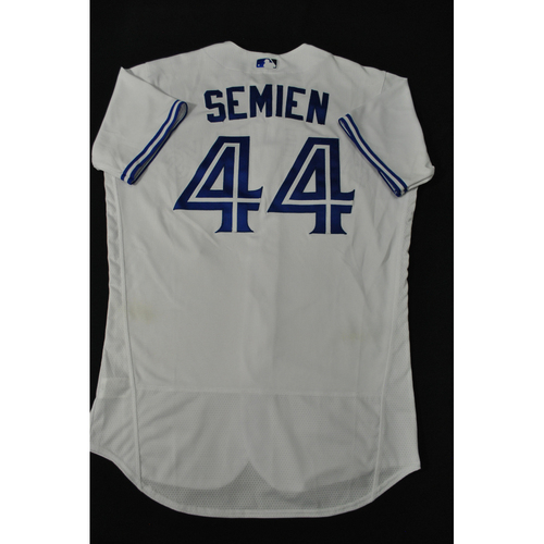 Photo of Hank Aaron Chasing the Dream Foundation: Marcus Semien 2021 MLB All-Star Workout Day BP-Worn # 44 Jersey