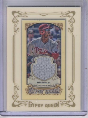 Photo of 2014 Topps Gypsy Queen Framed Mini Relics #GMRDB Domonic Brown