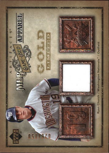Photo of 2006 Artifacts MLB Game-Used Apparel Gold Limited #RC Ryan Church Jsy/150