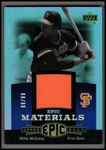 Photo of 2006 Upper Deck Epic Materials Blue #WM3 Willie McCovey Jsy/99