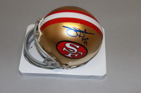 HOF - 49ERS JIMMY JOHNSON SIGNED 49ERS MINI HELMET