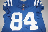 CRUCIAL CATCH - COLTS JACK DOYLE SIGNED AND GAME ISSUED COLTS JERSEY (OCTOBER 2017) SIZE 44