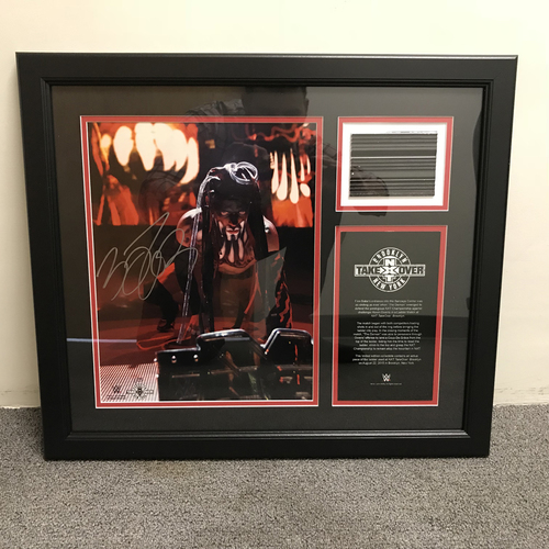 Photo of Finn Bálor Autographed NXT TakeOver: Brooklyn Ladder Piece Plaque (#1 of 25)