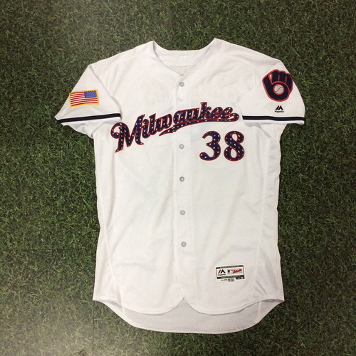 Photo of Dan Jennings Game-Used 2018 Stars & Stripes Jersey