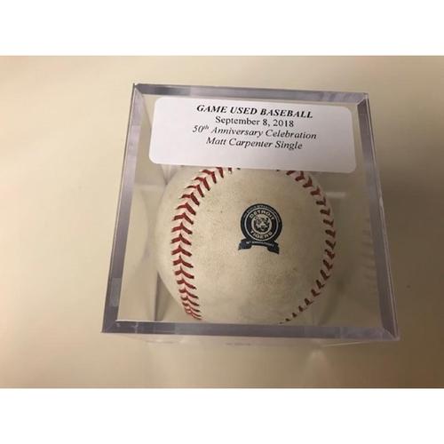 Photo of Game-Used Baseball: Matt Carpenter Single