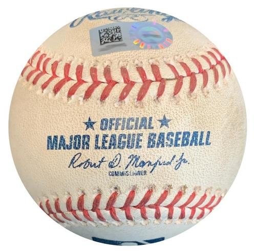 Photo of Game-Used Baseball from Pirates vs. Cubs on 8/17/18 - Francisco Cervelli Foul