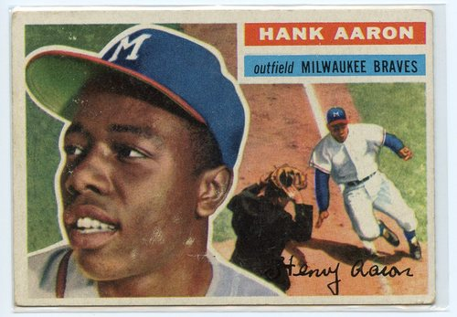 Photo of 1956 Topps #31 Hank Aaron  -- Hall of Famer