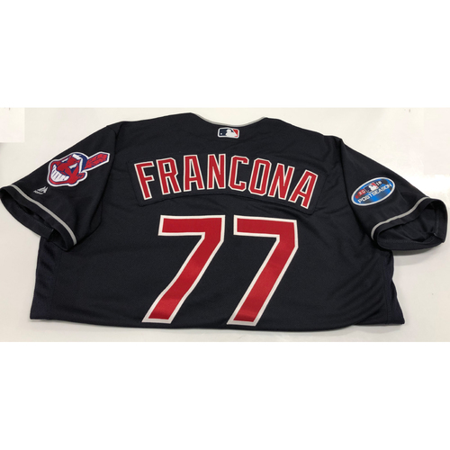 Photo of Terry Francona 2018 Post Season Alt. Road Jersey