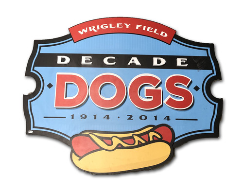 Wrigley Field Collection -- Concourse Sign - 'Decade Dogs'